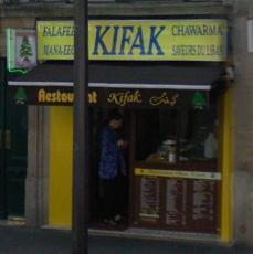 Kifak - devanture du resto !