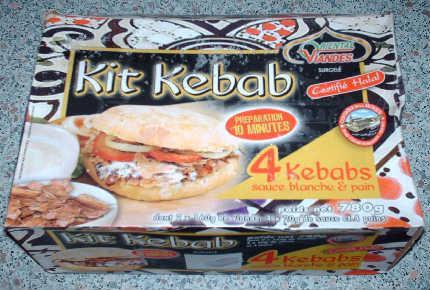 La boite du kit kebab noname