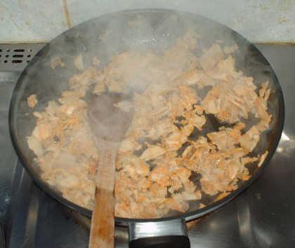 la poelee de la viande du kit kebab noname